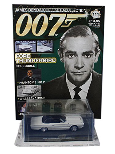 007 James Bond Car Collection #111 Ford Thunderbird (Thunderball) (Car Collection Ford)