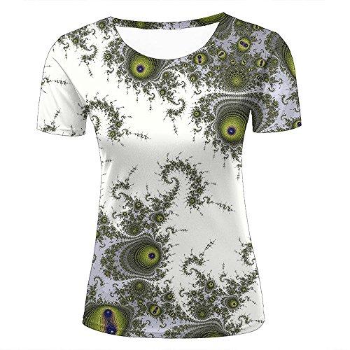 Unisex Funny 3D Printing Fractal Eye Flower Elegant Fashion Summer Men Women T-Shirt M (Flower Girls Club Little)