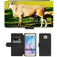 hello-mobile PU Flip Carcasa Funda de Cuero Piel Cubre Case // M00137509 Common Eland Antelope Animali Natura // Samsung Galaxy S6 (Not Fits S6 EDGE)