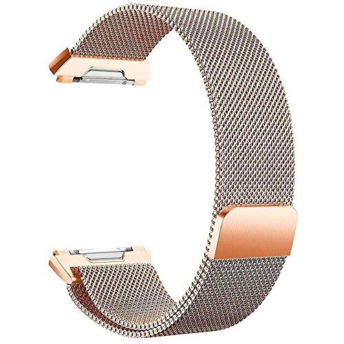 FashionAids Compatibile con Cinturino Fitbit Ionic, Cinturino in Metallo con Blocco Magnetico Unico per Fitbit Ionic Fitness Tracker (No Tracker)