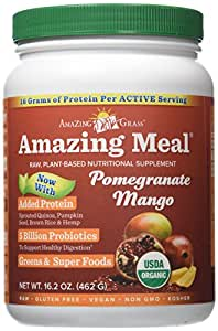 Amazing Grass, Amazing Meal, Pomegranate Mango Infusion, 15.5 oz (440 g)