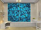 HONGYZCL Blauer Digitaldruckvorhang des Schmetterlings 3D Passend Für Hauptschlafzimmerwohnzimmer,264Cm(W)×213Cm(H)