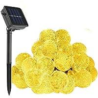 Solare luci della Stringa, WONFAST 30 Della Sfera di Cristallo LED Globe Fata Patio luci per Esterno Giardino (bianco
