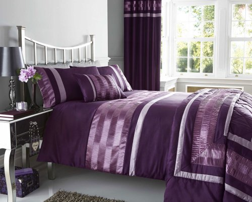 new-plum-pintuck-designed-bedding-matching-items-available-king-size-duvet-set