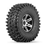 Goolsky 4Pcs AUSTAR AX-5020B 1.9 pulgadas 1/10 Rock Crawler Tires con cubo de metal para Traxxas Redcat SCX10 AXIAL RC Car