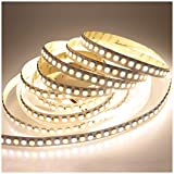 LTRGBW 5050 SMD Super Bright 2800K-7000K 24V 600LEDs Bi-coloré Dual White CW + WW Couleur réglable en température Flexible non étanche LED Strip Light 5M pour cuisine Salle de bain éclairage intérieur