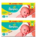 Pampers Newborn Baby Nappies Size 1 Premium Protection New Baby Giant Value Pack 2 x 72=144 Designed Especially for Your Babys Delicate Skin
