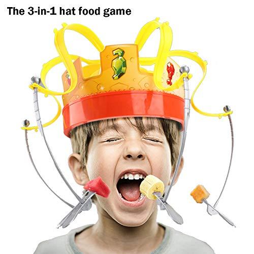 Kostüm Jemals Größte - MuchachaZX Lustiges Set Hut Essen Freunde Party Spielzeug kreatives elektrisches Drehspiel Krone Hut für Kinder Jugend Erwachsene