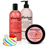 BRUBAKER Happiness 'My Strawberry Fields' Body Lotion, Duschgel, Körperbutter Erdbeer und Magic...