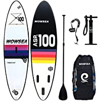 WOWSEA Tabla Hinchable Paddle Surf/Sup Paddel Surf con Inflador, Mochila, Remo,