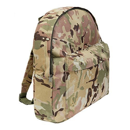 Kids Army Style Multi Terrain Camo Rucksack 15ltr Camouflage Back Pack by KAS (Camo Hs)