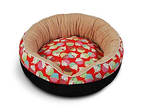 DAN Hundebett Haustierbett für Katzen und Ultra Weicher Plüsch luxuriöse Haustier-Schlafsack Maschine waschbar, b