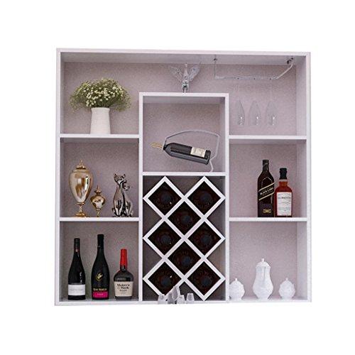 Aluk- moderno stile minimalista appeso a parete cremagliera del vino armadietto del vino bar di casa appeso a parete cremagliera creativo reticolo 100 cm * 23 cm * 100 cm ( colore : #2 )