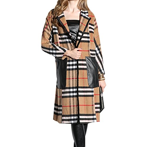Oulu® Donne V-line Cappotto sottile di affari della nappa con Belt OW281675