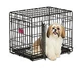 Hohe Qualität Luxus Hundekäfig 62,5x45,4x49,5 cm Transportbox Transportkäfig Drahtkäfig Klappbar Hundebox Käfig Hund Schwarz