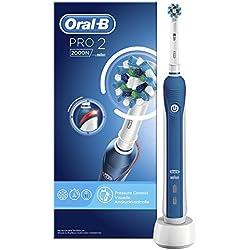Oral-B PRO 22000N - Cepillo de dientes electrico recargable, con tecnologia de Braun, 1 mango, 2 modos, cabezal de recambio