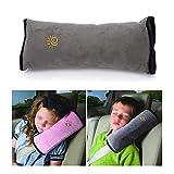 ihrkleid Kopfkissen Kissen von Sicherheitsgurte Kopfkissen aufsteckbar praktisch und komfortabel KFZ-Schutz Schulter Hals für Kinder 30* 9* 12cm