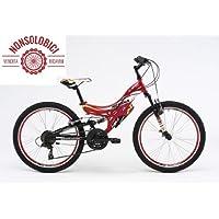 Bicicleta Bicicleta Mountain Bike Reina 24 18 V Replica Moto GP biammortizzata ·