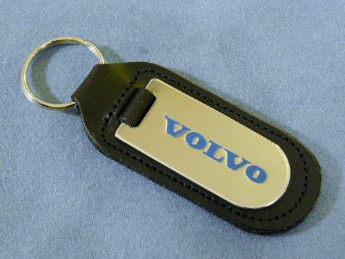 Volvo Schlüsselanhänger, echtes Leder (Top-qualität Leder Schlüsselanhänger Schwarz)