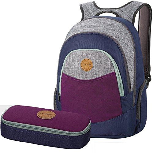 DAKINE 2er SET Laptop Rucksack Schulrucksack PROM + SCHOOL CASE Mäppchen Huckleberry