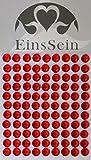 EinsSein 99x Aufkleber Sticker selbstklebend 5,5mm Strasssteine rot Glitzersteine Strasssteine Einladungskarten