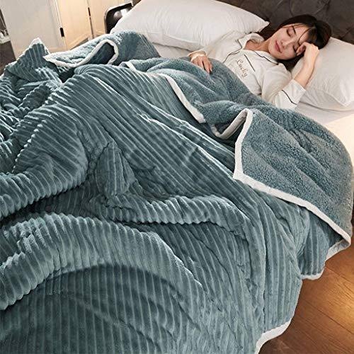 Vlies Decke, Flauschige Weichem Kuschelig Kuscheldecke, Winter Verdicken Flanell Decke, Für Schlafzimmer, Heimgebrauch, Tagesdecke-100×150cm-B