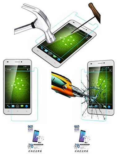 Acm Pack Of 2 Tempered Glass Screenguard For Xolo Q1200 Mobile Screen Guard Scratch Protector  available at amazon for Rs.229