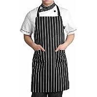 CitiPod™ regolabile, da adulto, colore: nero a righe, Chef-Grembiule da cucina, motivo: Cook-Cavatappi con 2 tasche