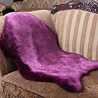 Acecoree Artificial Wool Sheepskin Mat Rug, Anti-slip Bathroom Bedroom Chair Cover Soft Rug for Bedroom Floor Sofa Chair,Chair Cover Seat Pad Couch Pad Area Carpet by Acecoree