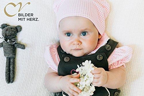 BLH Babylederhose LANG und KURZ (aus Baumwolle, in Lederhosenoptik) von Mogo.cc Stick beige