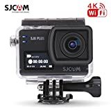 SJCAM SJ8 Plus, videocamera sportiva action cam WiFi, HD 4 K / 30 fps, 12 MP, obiettivo grandangolare 170 °, schermo touch screen da 2,33 pollici, registratore audio, 1 batteria extra, 1 caricatore doppio, scheda TF da 16 GB, colore nero