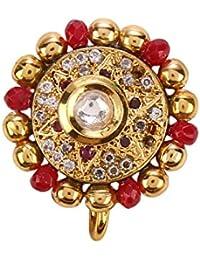 Sri Shringarr Gold Plated Pin for Women (Multi-Color)(N422ON)