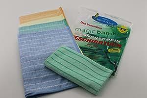 8 Original Aqua Clean Bambus Tuch Geschirrtücher  ca 40 x 60 cm Bambustücher