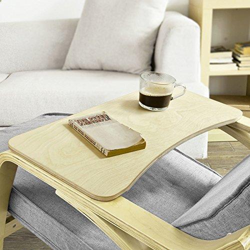 SoBuy® 66cm Lang, Brett , Ablage für Schaukelstuhl or Relaxsessel, Tablett, FBT33-N