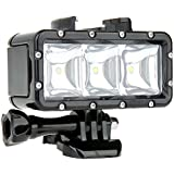 niceEshop(TM) Dimmable LED Vidéo POV Flash D'appoint Nuit Lumière étanche pour GoPro Xiaoyi (Noir)