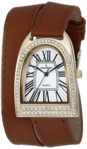 Peugeot Women's 3039G Analog Display Japanese Quartz Brown Watch