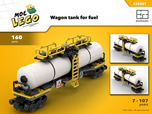 Train Wagon Tank for fuel (Instruction Only): MOC LEGO (English Edition)