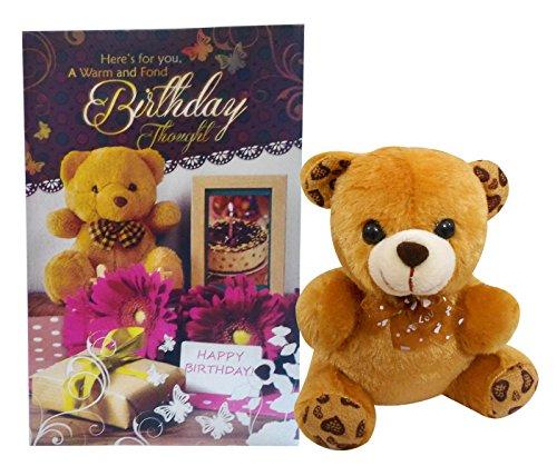 Natali Teddy With Birthday Greeting Card