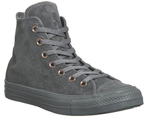 Converse Unisexe Chuck Taylor AS Hi Noir Mono Chaussures de basket-ball Mason Grey Stud Exclusive
