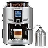 Krups EA826E(Artikelnr. : EA826E10) Kaffeevollautomat (1450 Watt, 1,8 Liter, 15 bar, LC Display, Cappuccinatore) aluminium