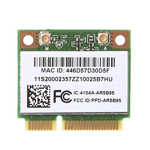 yihonersty Carte Demi-PCI-Express WiFi Demi-Carte sans Fil AR9285 AR5B95  802 11b / g/n sans Fil pour Lenovo