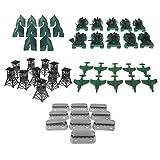 KESOTO 50 Pezzi Giocattolo del Modello Esercito Accessori per Uomini Esercito dei Soldati - Bunker di Carri Armati Aereo Blindato di Tenda