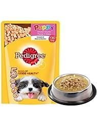 Pedigree Puppy Chicken Chunks Flavour in Gravy, 80g Pouch (Sample)
