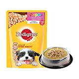 #8: Pedigree Puppy Chicken Chunks Flavour in Gravy, 80g Pouch (Sample)