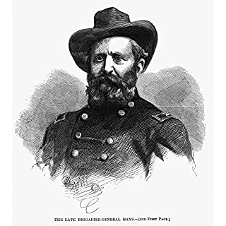 The Poster Corp Alexander Hays (1819-1864). /Namerican General. Contemporary Wood Engraving. Kunstdruck (45,72 x 60,96 cm)