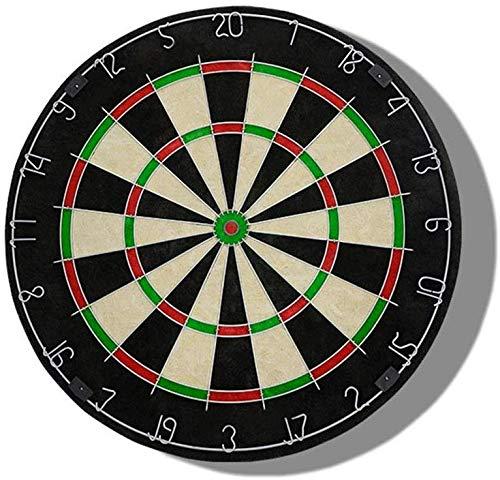 MU Puzzle Toys Enthält 6 Dartpfeile aus Messing und ein Cricket-Anzeigetafelset mit einem Durchmesser von 45 Zentimetern (18 Zoll). Dartscheibe beidseitig beflockt, Dartscheibe-Set,Als Bild,18 Zoll