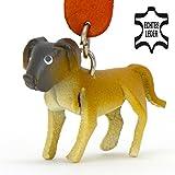 Deutsche Dogge Scooby Doo - Hunde Schlüsselanhänger Figur aus Leder in der Kategorie Kuscheltier / Stofftier / Plüschtier von Monkimau in hellbarun, braun, schwarz (5 x 2 x 4cm LxBxH), jeweils 1 Stück