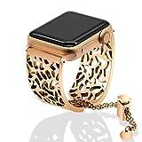 TRUMiRR Compatible para Apple Watch Correa 42mm Mujeres Damas, Jewelry Pulsera Metal Acero Inoxidable Pulsera para muñeca Cuff Brazalete para iWatch Apple Watch Series 3 2 1 Todos los Modelos