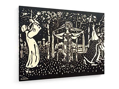 Wassily Kandinsky - Schalmei - Heliogravüre 1907-80x60 cm - Leinwandbild auf Keilrahmen - Wand-Bild - Kunst, Gemälde, Foto, Bild auf Leinwand - Alte Meister/Museum