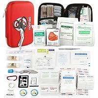 HONYAO Erste-Hilfe Set, 226 Stück Notfall Medizinisch Überlebens Kit mit Wasserdichte Box Leicht Kompakt für Boot... preisvergleich bei billige-tabletten.eu